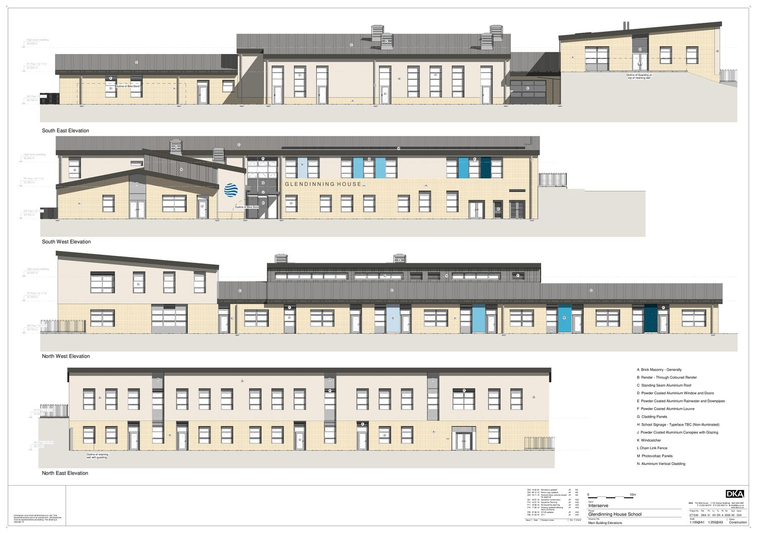 GH main building elevations